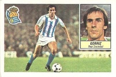 Liga 84-85. Gorriz (Real Sociedad). Ediciones Este.