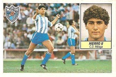 Liga 84-85. Hierro II (Coloca por Urdaci) (C.D. Málaga). Ediciones Este.