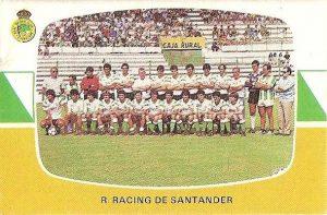 Liga 84-85. Plantilla Racing de Santander (Racing de Santander). Cromos Cano.