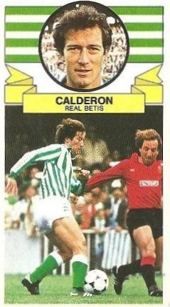 Liga 85-86. Calderón (Real Betis). Ediciones Este.
