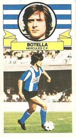 Liga 85-86. Fichaje Nº 14 Botella (Hércules C.F.). Ediciones Este.