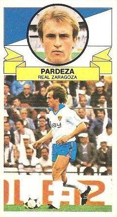 Liga 85-86. Fichaje Nº 17 Pardeza (Real Zaragoza). Ediciones Este.