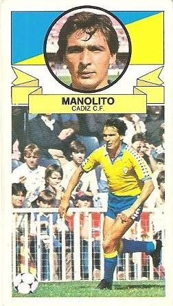 Liga 85-86. Manolito (Cádiz C.F.). Ediciones Este.