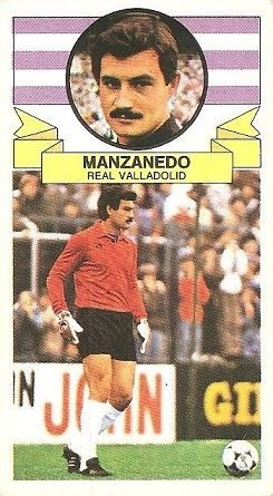 Liga 85-86. Manzanedo (Real Valladolid). Ediciones Este.