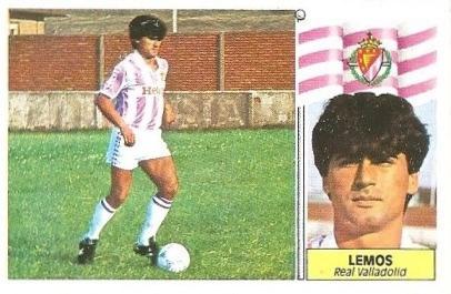 Liga 86-87. Fichaje Nº 16 Lemos (Real Valladolid). Ediciones Este.