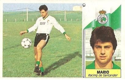Liga 86-87. Mario (Racing de Santander). Ediciones Este.