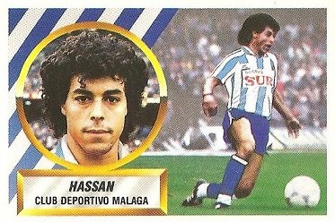 Liga 88-89. Hassan (C.D. Málaga). Ediciones Este.