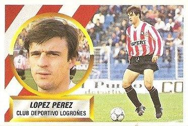 Liga 88-89. López Pérez (C.D. Logroñés). Ediciones Este.