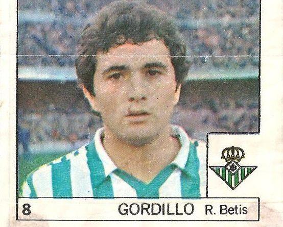 Super Cromos Los Mejores del Mundo (1981). Gordillo (Real Betis). Chicle Fútbol Boomer.