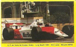 Grand Prix Ford 1982. Niki Lauda (McLaren). (Editorial Danone). -