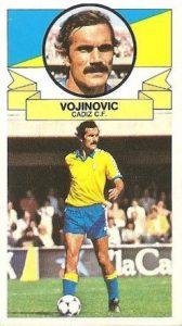 Liga 85-86. Vojinovic (Cádiz C.F.). Ediciones Este.