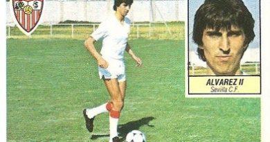 Liga 84-85. Álvarez II (Sevilla C.F.). Ediciones Este.