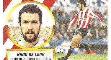 Liga 88-89. Hugo de León (C.D. Logroñés). Ediciones Este.