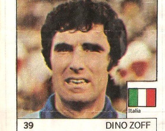 Super Cromos Los Mejores del Mundo (1981). Zoff (Italia). Chicle Fútbol Boomer.