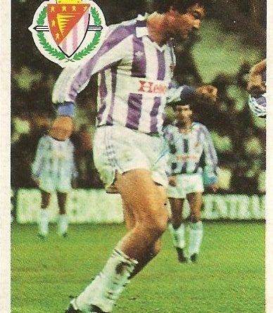 Diego Armando Maradona. Sus driblings. Sus goles. Liga 84-85. Gail (Real Valladolid). Cromo Esport.