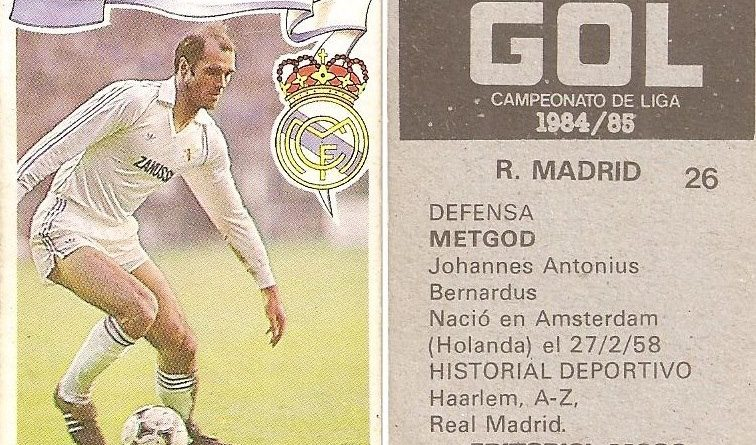 Gol. Campeonato de Liga 1984-85. Metgod (Real Madrid). Editorial Maga.