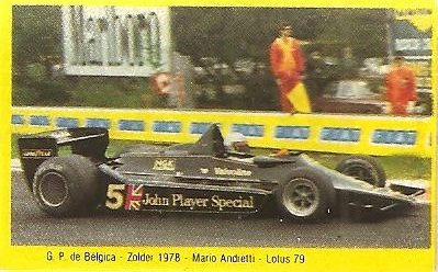 Grand Prix Ford 1982. Mario Andretti (Lotus). (Editorial Danone)...