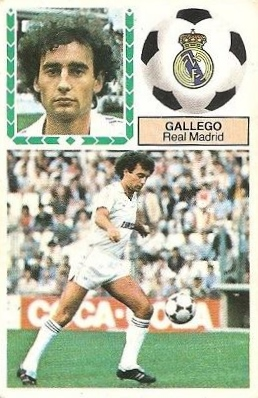 Liga 83-84. Gallego (Real Madrid). Ediciones Este.