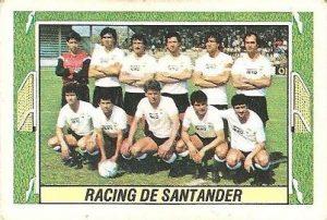 Liga 84-85. Alineación Racing de Santander (Racing de Santander). Ediciones Este.
