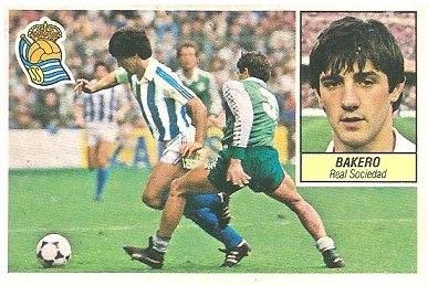 Liga 84-85. Bakero (Real Sociedad). Ediciones Este.