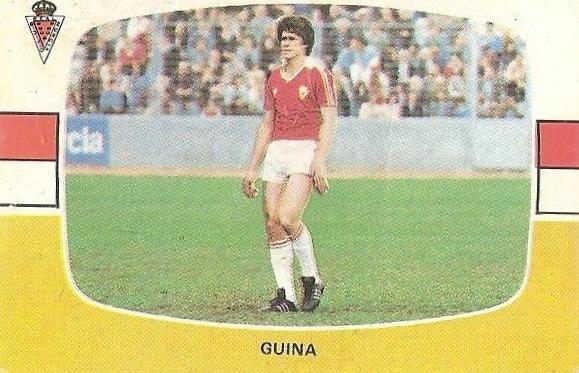Liga 84-85. Guina (Real Murcia). Cromos Cano.
