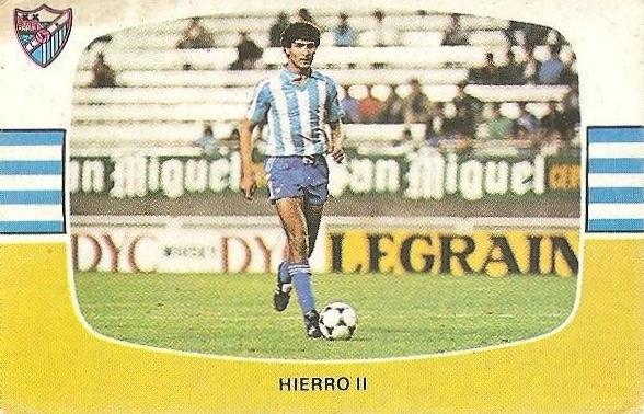 Liga 84-85. Hierro II (C.D. Málaga). Cromos Cano.