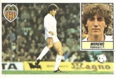 Liga 84-85. Moreno (Coloca por César) (Valencia C.F.). Ediciones Este.