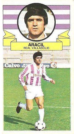 Liga 85-86. Aracil (Real Valladolid). Ediciones Este.