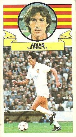 Liga 85-86. Arias (Valencia C.F.). Ediciones Este.