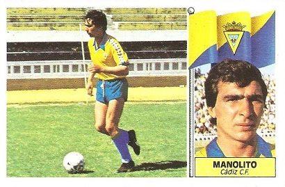 Liga 86-87. Manolito (Cádiz C.F.). Ediciones Este.