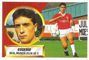 Liga 88-89. Eugenio (Real Murcia). Ediciones Este.