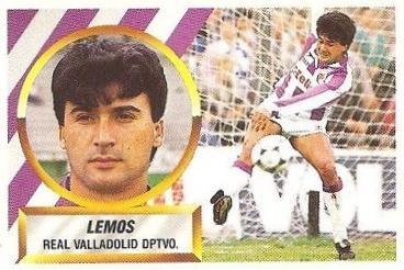 Liga 88-89. Lemos (Real Valladolid). Ediciones Este.