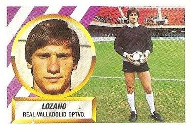 Liga 88-89. Lozano (Real Valladolid). Ediciones Este.
