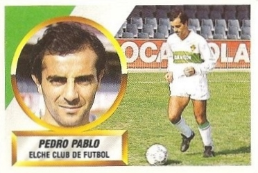Liga 88-89. Pedro Pablo (Elche C.F.). Ediciones Este.