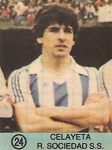 1983-84 Super Campeones. Celayeta (Real Sociedad). (Ediciones Gol)