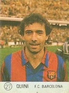 1983 Selección de Fútbol Liga Española. Quini (F.C. Barcelona). Editorial Mateo Mirete.