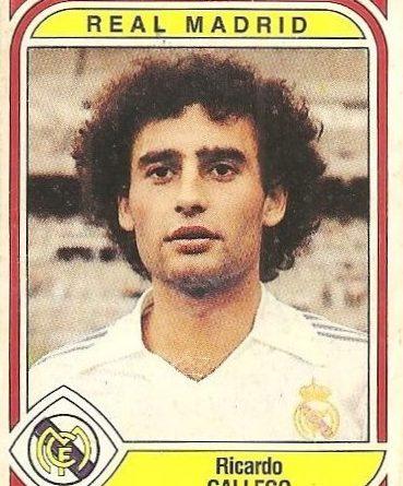 Liga 83-84. Gallego (Real Madrid). Ediciones Panini.