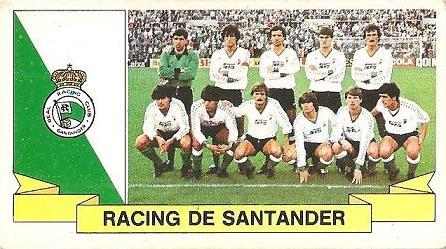 Liga 85-86. Alineación Racing de Santander (Racing de Santander). Ediciones Este.