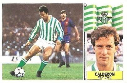 Liga 86-87. Calderón (Real Betis). Ediciones Este.