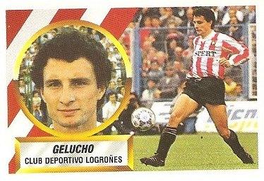 Liga 88-89. Gelucho (C.D. Logroñés). Ediciones Este.