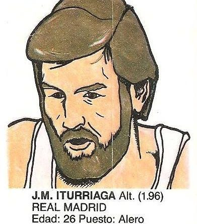 Liga Baloncesto 1985-1986. Iturriaga (Real Madrid). Ediciones Dubble Dubble.