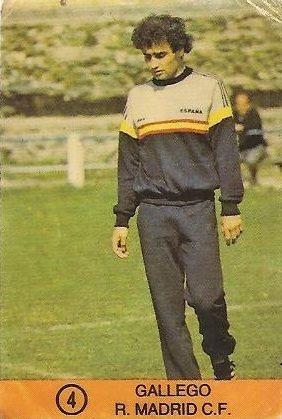 1983-84 Super Campeones. Gallego (Real Madrid). (Ediciones Gol)