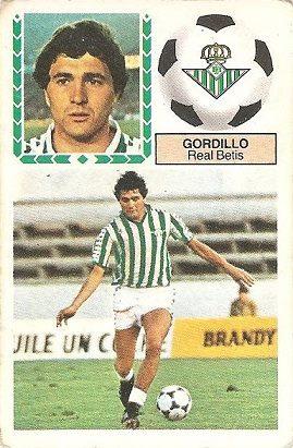Liga 83-84. Gordillo (Real Betis). Ediciones Este.