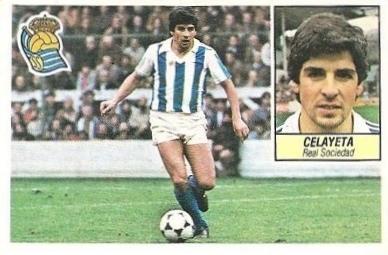 Liga 84-85. Celayeta (Real Sociedad). Ediciones Este.