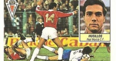 Liga 84-85. Husillos (Real Murcia). Ediciones Este.