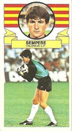 Liga 85-86. Sempere (Valencia C.F.). Ediciones Este.