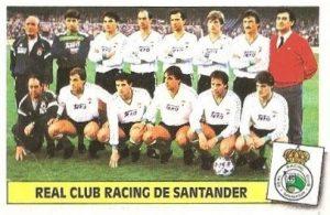 Liga 86-87. Alineación Racing de Santander (Racing de Santander). Ediciones Este.