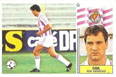 Liga 86-87. Gail (Real Valladolid). Ediciones Este.