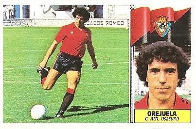 Liga 86-87. Orejuela (Club Atlético Osasuna). Ediciones Este.