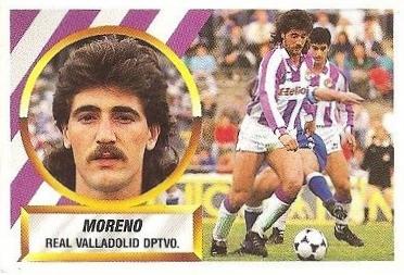 Liga 88-89. Moreno (Real Valladolid). Ediciones Este.
